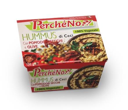 img-Hummus di ceci mediterraneo con pomodori secchi e olive